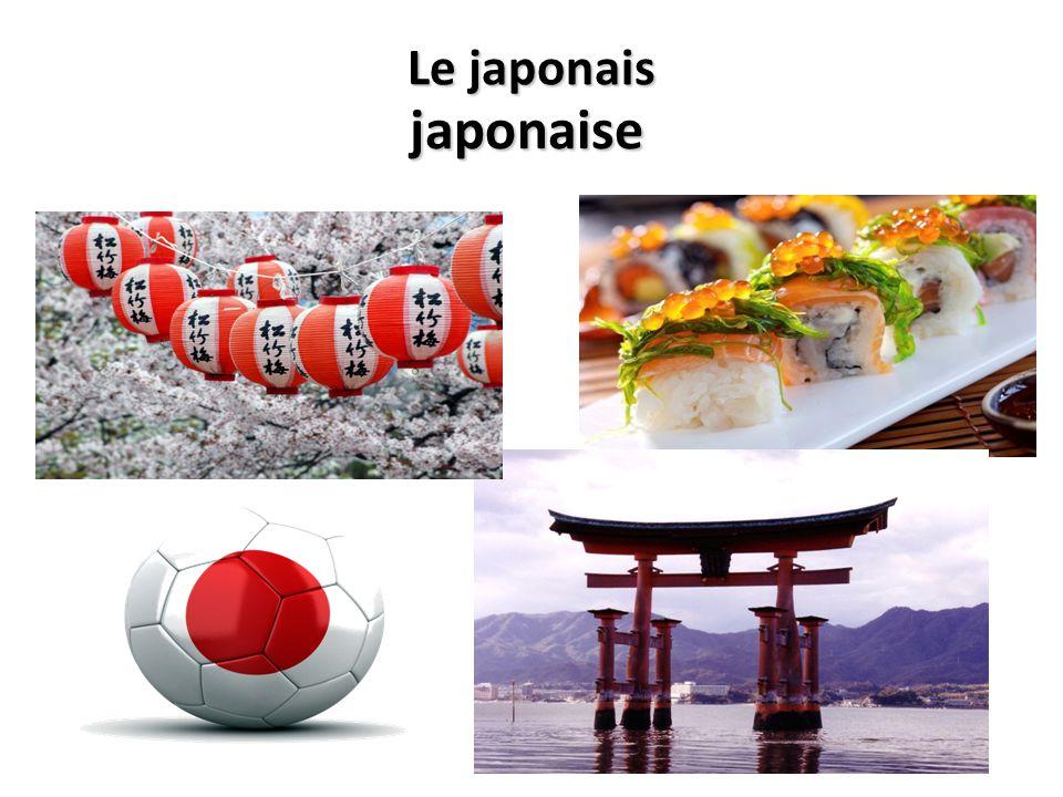 Le japonais japonaise
