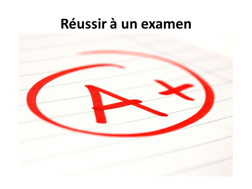 Réussir à un examen