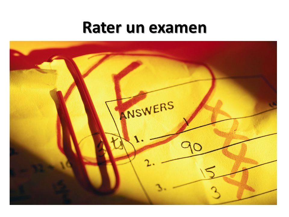 Rater un examen