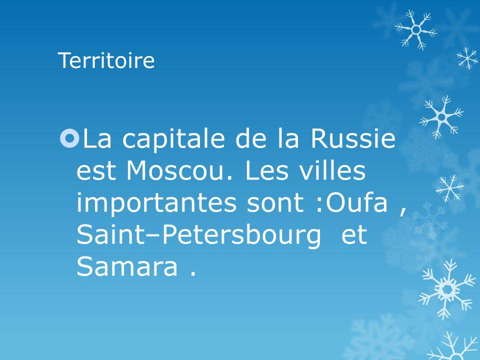 Territoire La capitale de la Russie est Moscou.