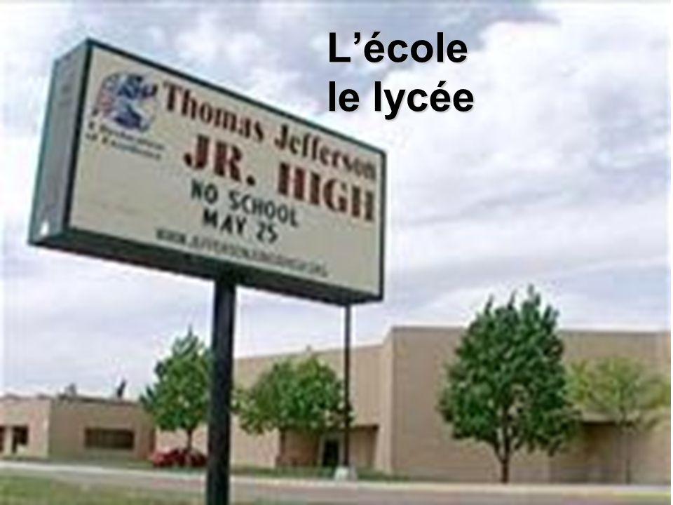 Lécole le lycée