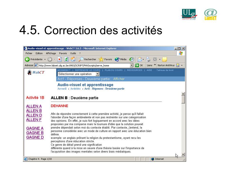 4.5. Correction des activités