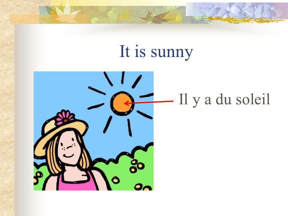 It is sunny Il y a du soleil