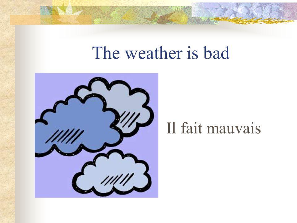 It is cloudy Il y a des nuages