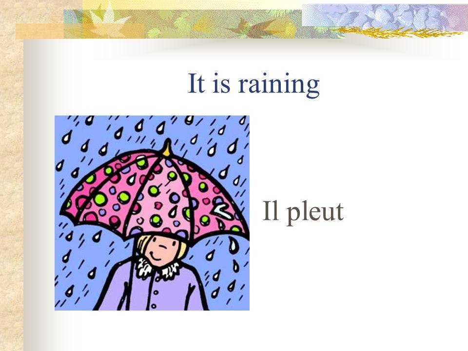 It is stormy Il y a de lorage