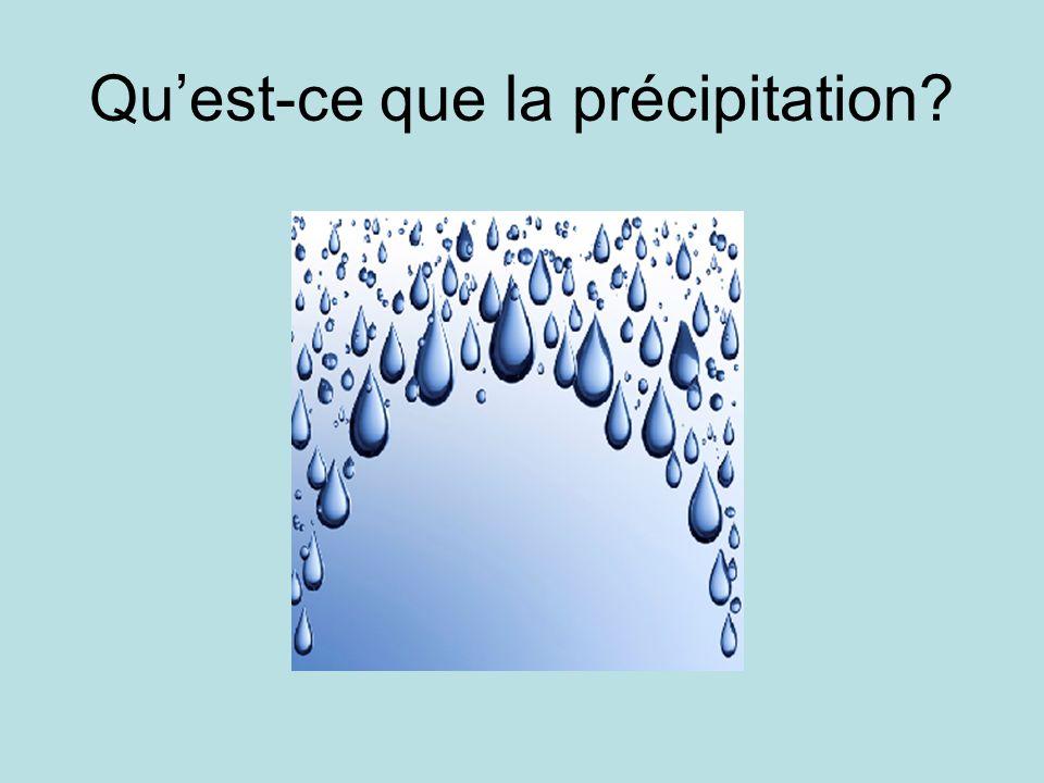 Quest-ce que la précipitation?