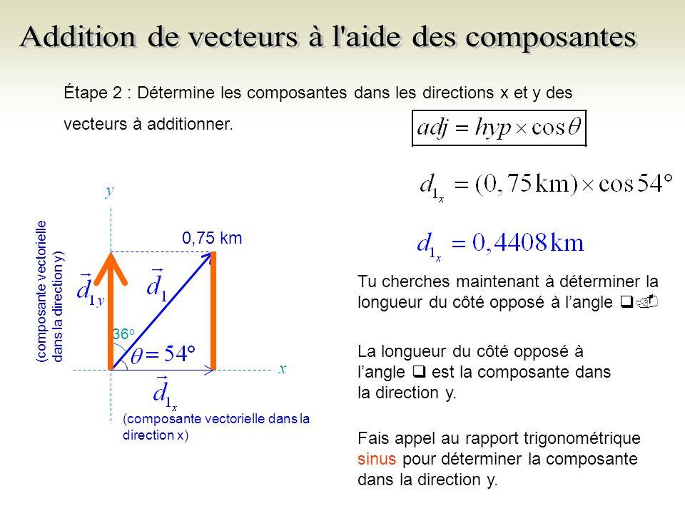 Note que q est toujours la mesure de langle prise dans le sens anti- horaire entre la partie positive de laxe des x et le vecteur.