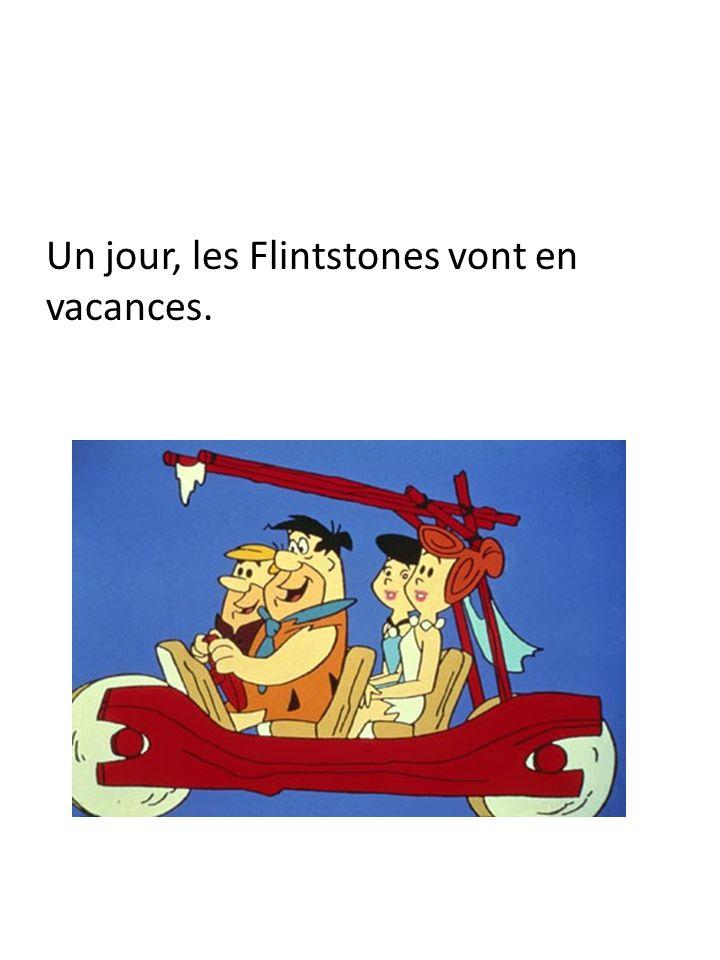 Un jour, les Flintstones vont en vacances.