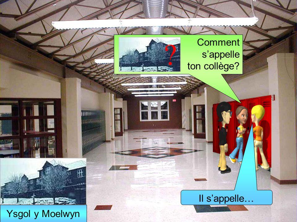 Comment sappelle ton collège? Il sappelle… ? Ysgol y Moelwyn