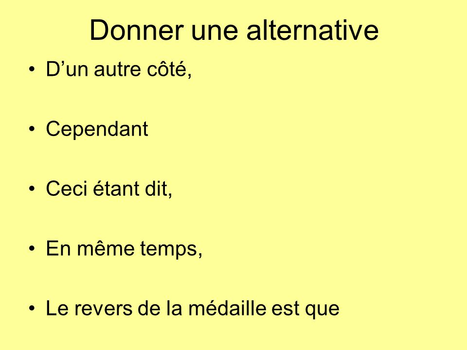A vous.Write 3 sentences using at least 3 expressions learnt today.