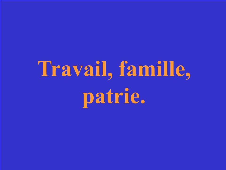Les nouveux moeurs et valeurs nationales de la France instituées par Pétain.