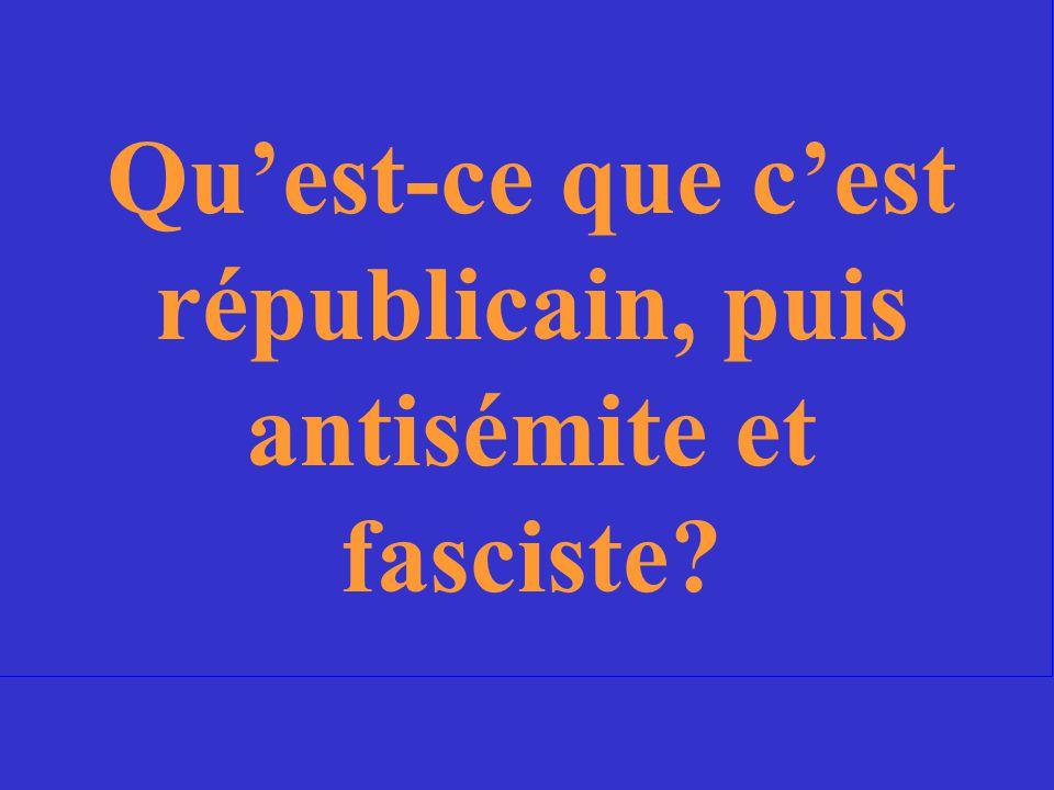 La sorte de gouvernement que le peuple français considérait le gouvernement Vichy au cours de leur règne.