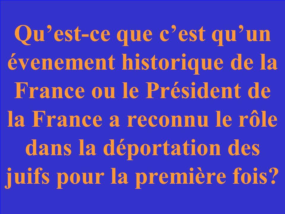Le discours de Jacques Chirac de 1995.