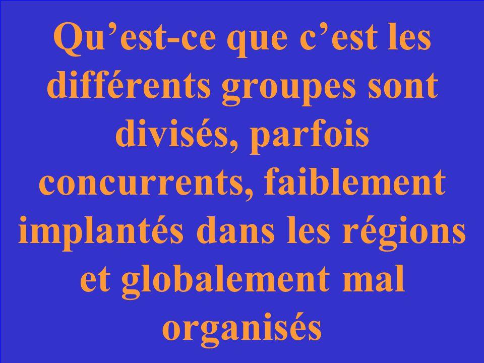 Le problème de la Résistance Française jusqua son unification en 1942.