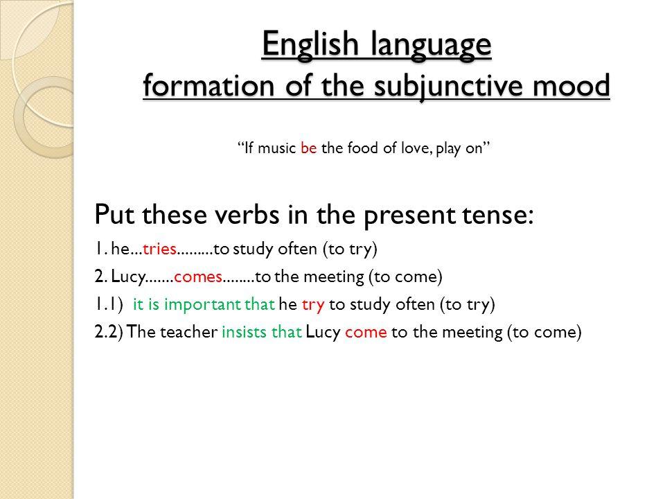 Formation of the subjunctive La terminaison: Add: -e- ions -es- iez -e-ent Le radical/la racine: 3rd Person Indicative: Ils/elles chantent Drop the –ent ending