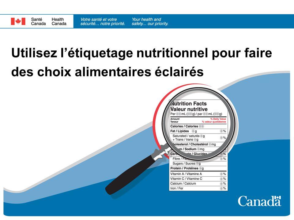 Utilisez létiquetage nutritionnel pour faire des choix alimentaires éclairés