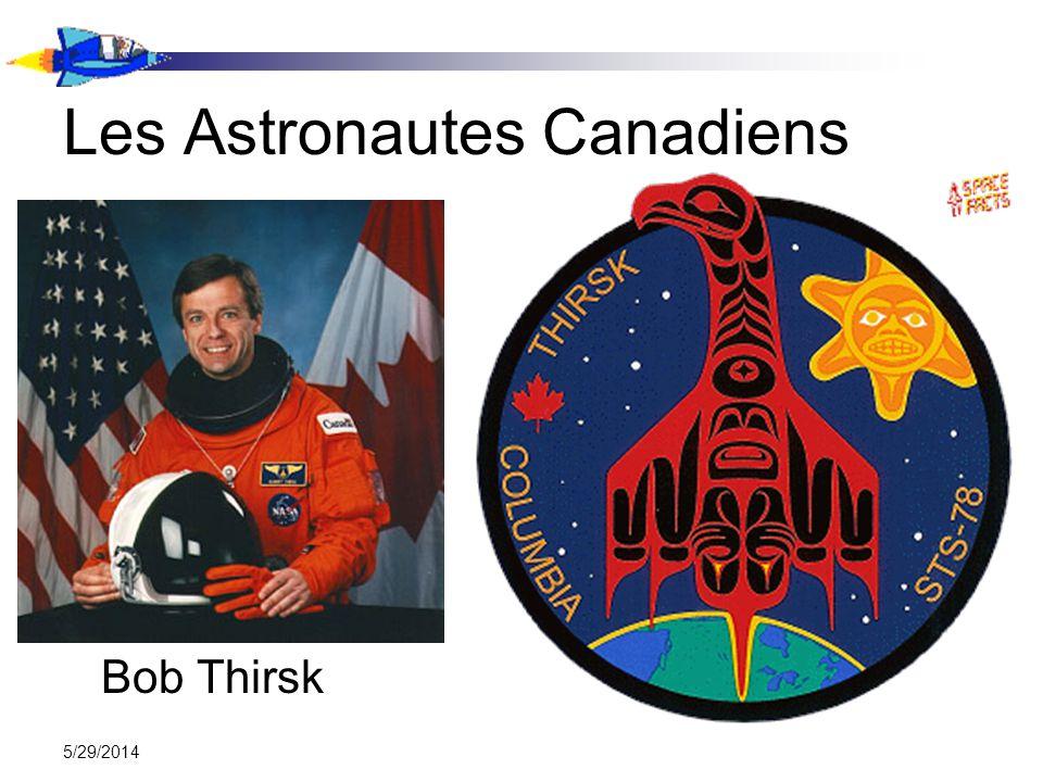 5/29/2014 Les Astronautes Canadiens Bob Thirsk