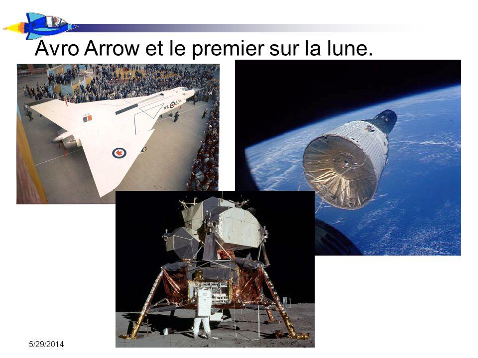 5/29/2014 Avro Arrow et le premier sur la lune.
