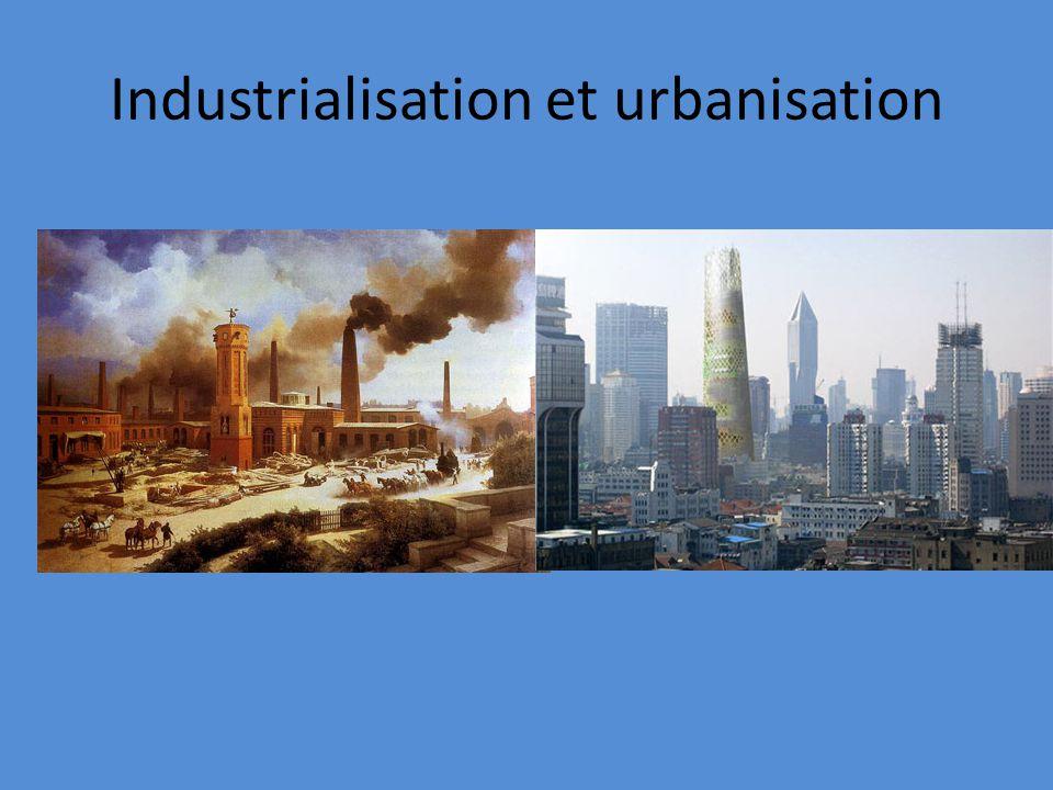 Industrialisation et urbanisation