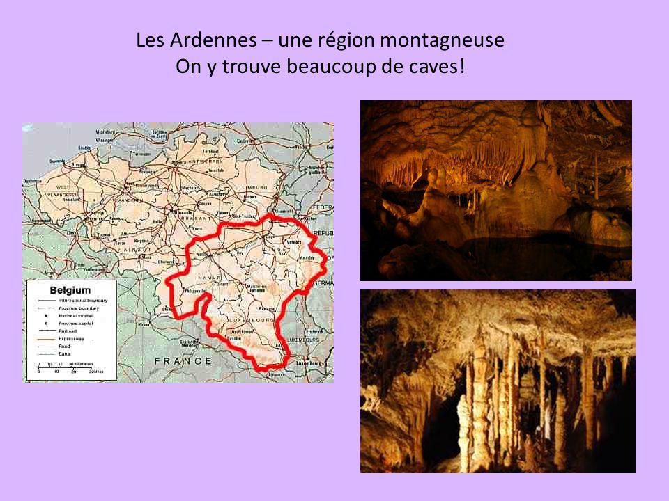 Les Ardennes – une région montagneuse On y trouve beaucoup de caves!