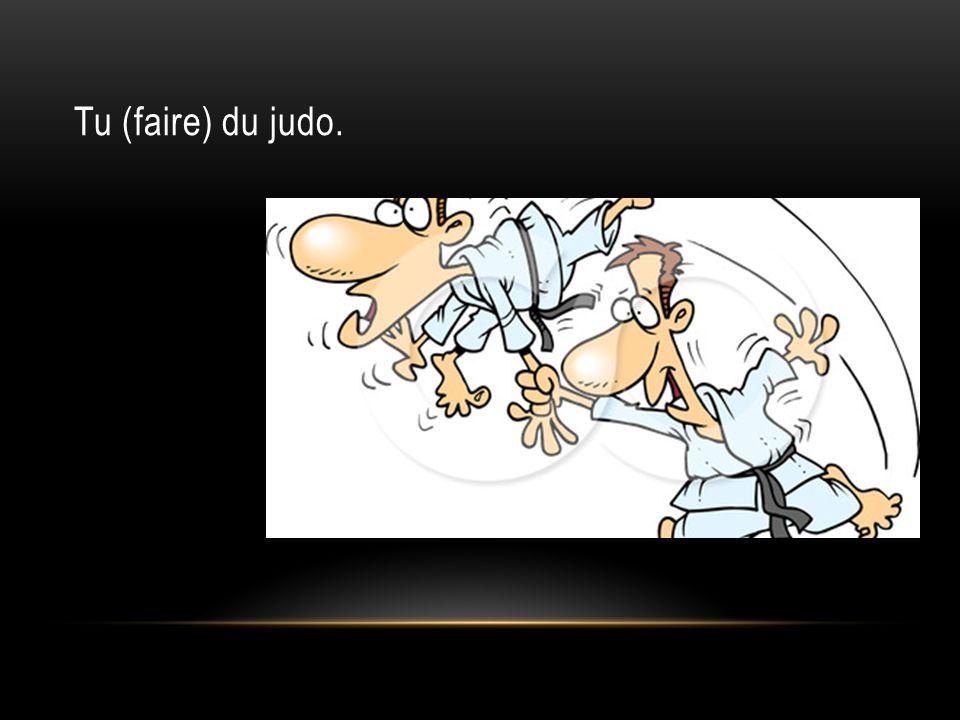 Tu (faire) du judo.