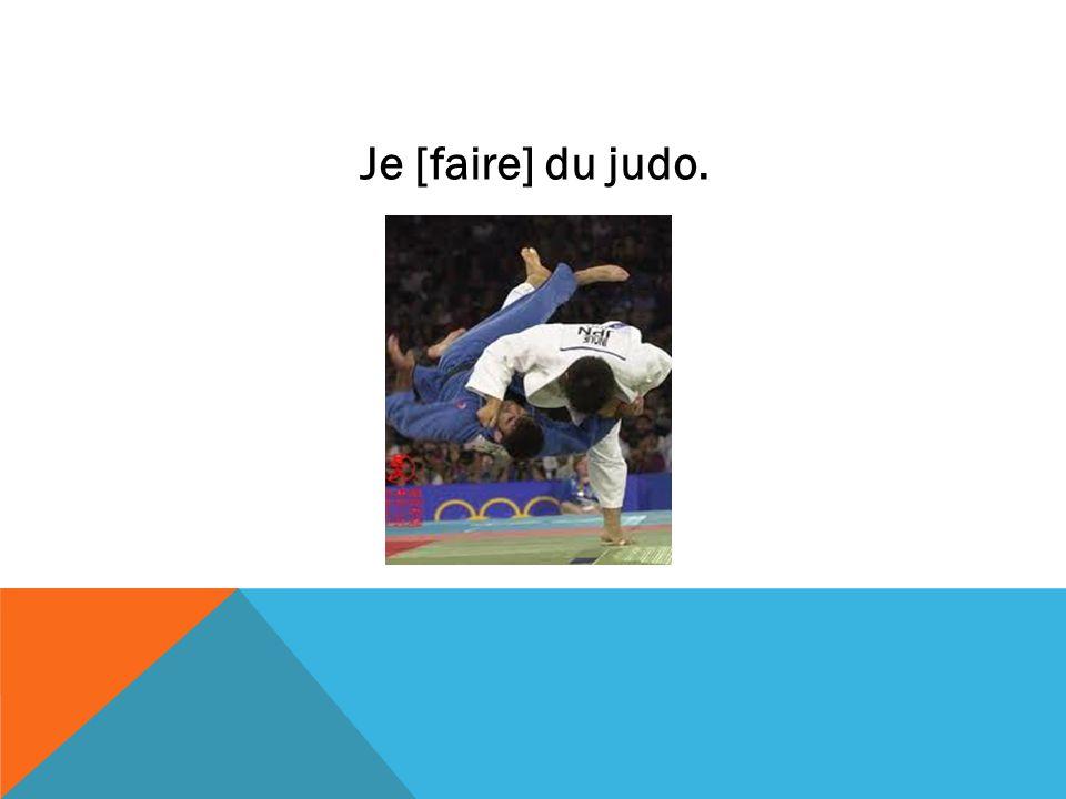 Je [faire] du judo.