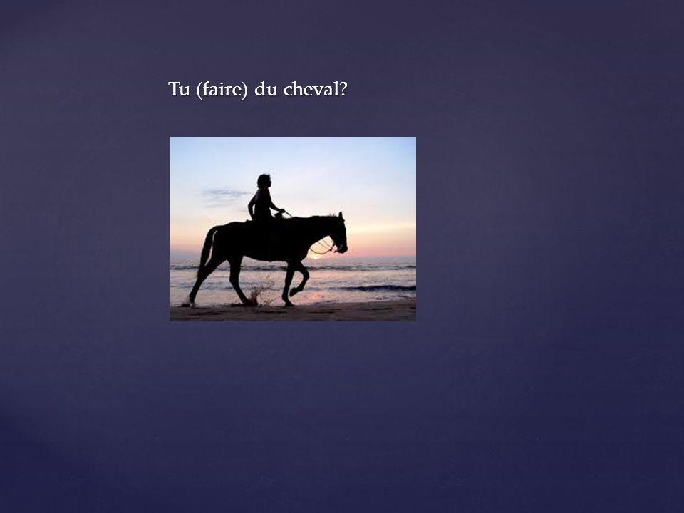 Tu (faire) du cheval?