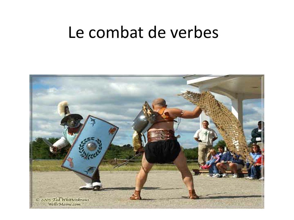 Le combat de verbes