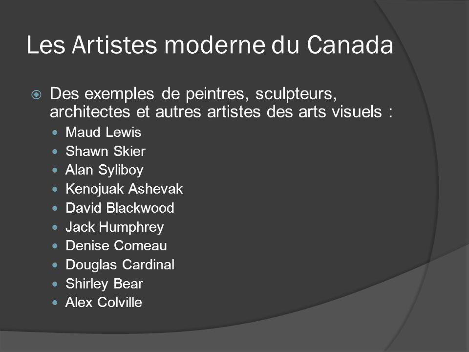 Les Artistes moderne du Canada Des exemples de peintres, sculpteurs, architectes et autres artistes des arts visuels : Maud Lewis Shawn Skier Alan Syl