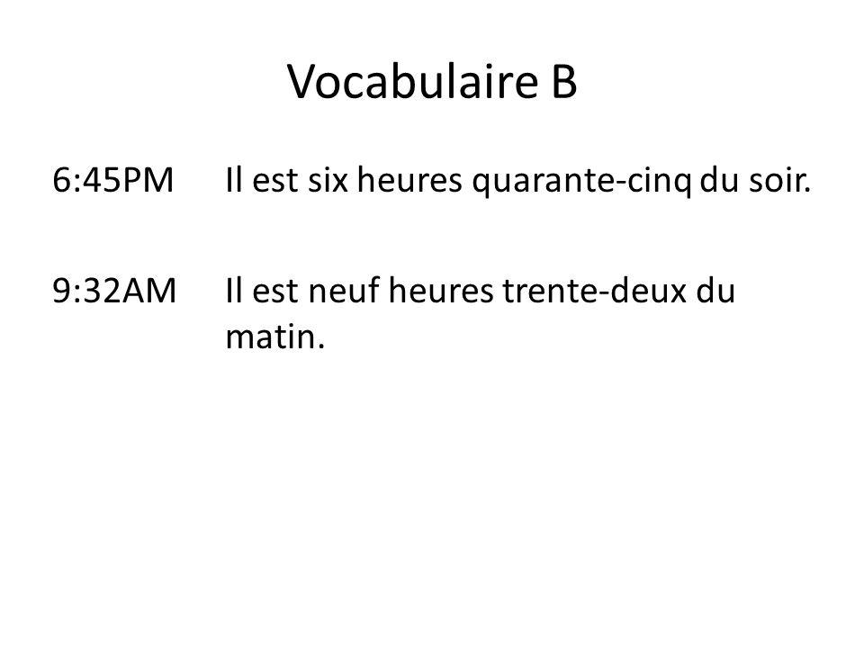 Vocabulaire C 1.La géographie: Jai besoin dune règle et dun cahier jaune.
