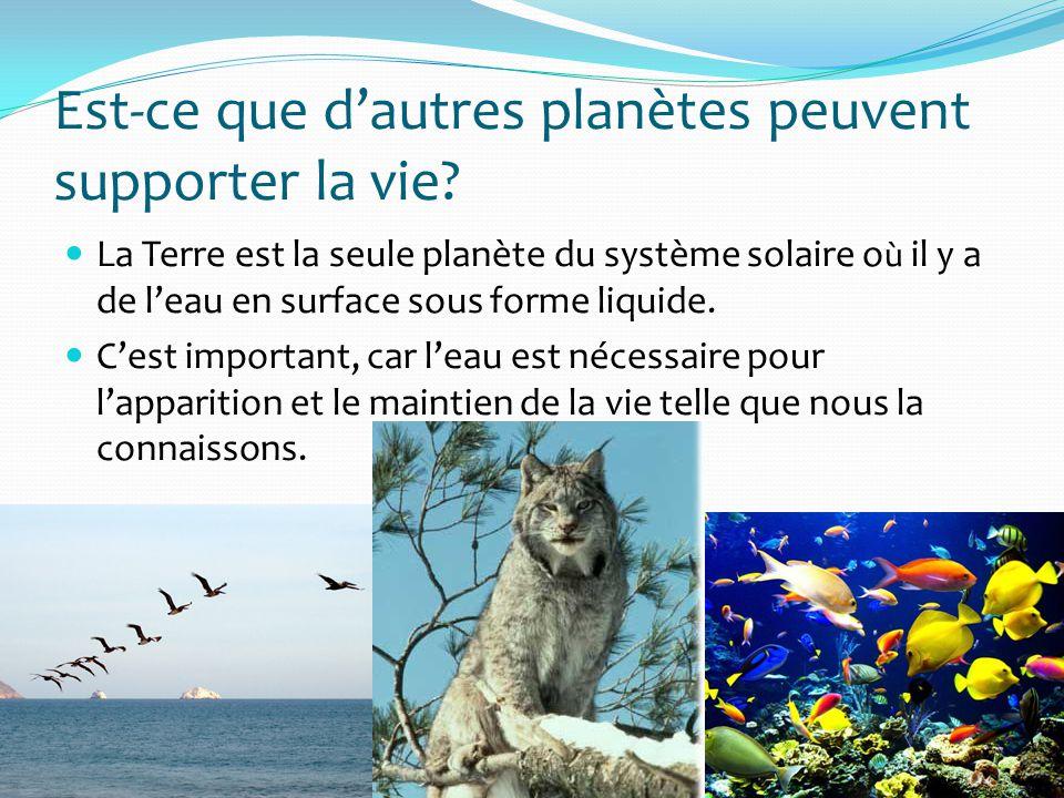 La biosphère… On appelle biosphère lensemble des régions de la Terre où la vie peut exister.