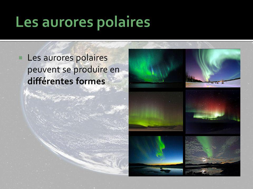 Les aurores polaires peuvent se produire en différentes formes