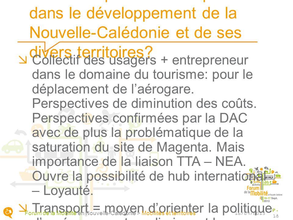 Quels rôles pour les transports dans le développement de la Nouvelle-Calédonie et de ses divers territoires? Collectif des usagers + entrepreneur dans
