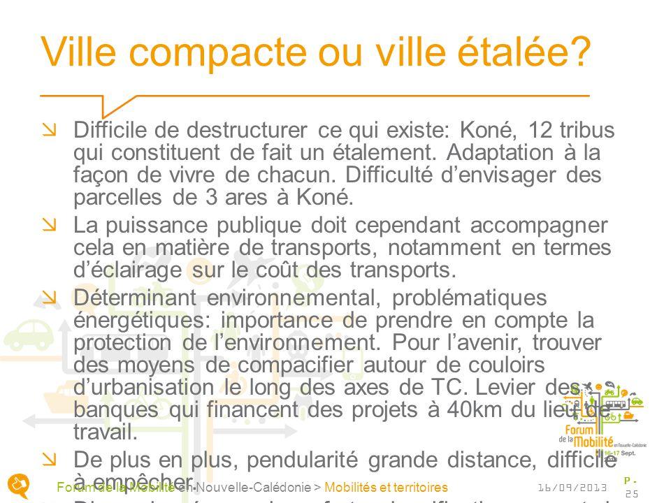 Ville compacte ou ville étalée? Difficile de destructurer ce qui existe: Koné, 12 tribus qui constituent de fait un étalement. Adaptation à la façon d