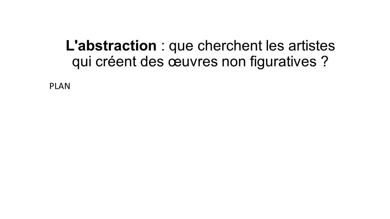 L abstraction : que cherchent les artistes qui créent des œuvres non figuratives ? PLAN