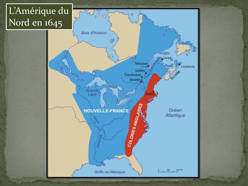 LAmérique du Nord en 1645