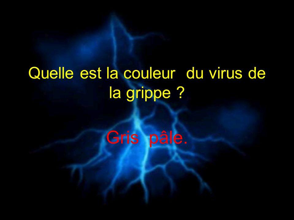 Quelle est la couleur du virus de la grippe ? Gris pâle.