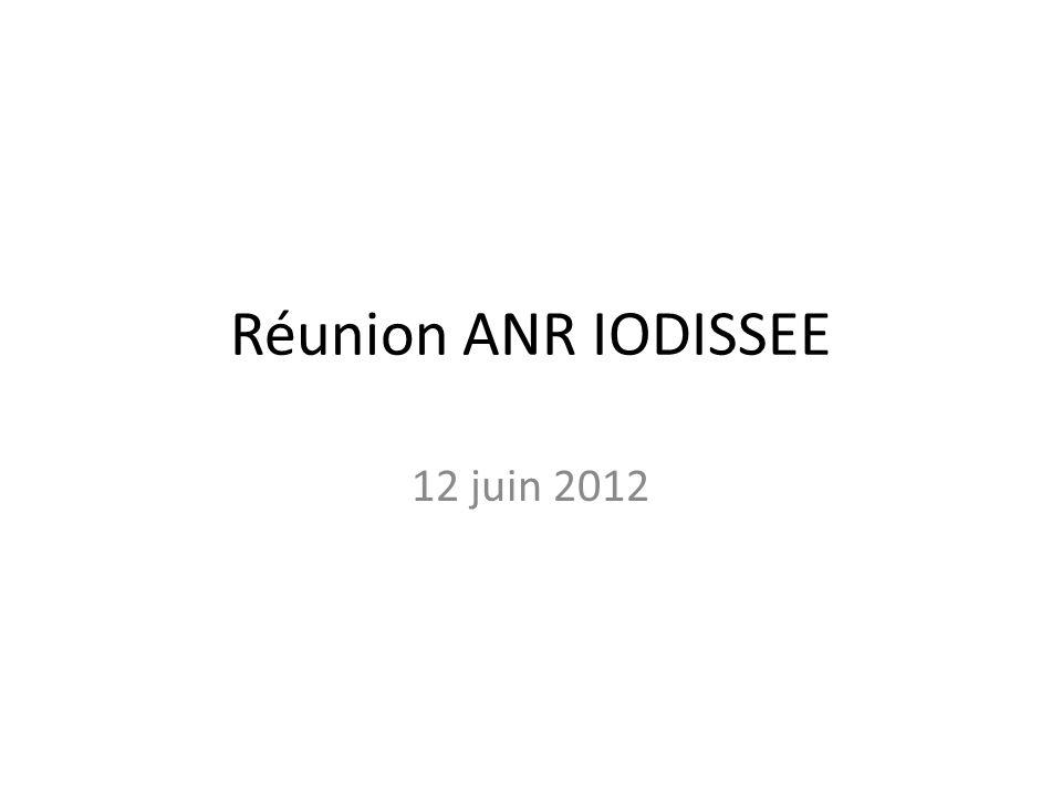 Réunion ANR IODISSEE 12 juin 2012