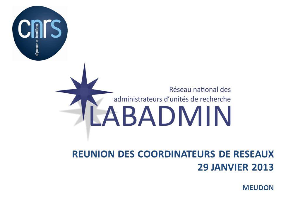 LABADMIN Le Réseau LABADMIN (sa création, ses objectifs, son périmètre) Bilan des activités du réseau 2011-2012 Projets 2013-2014 2
