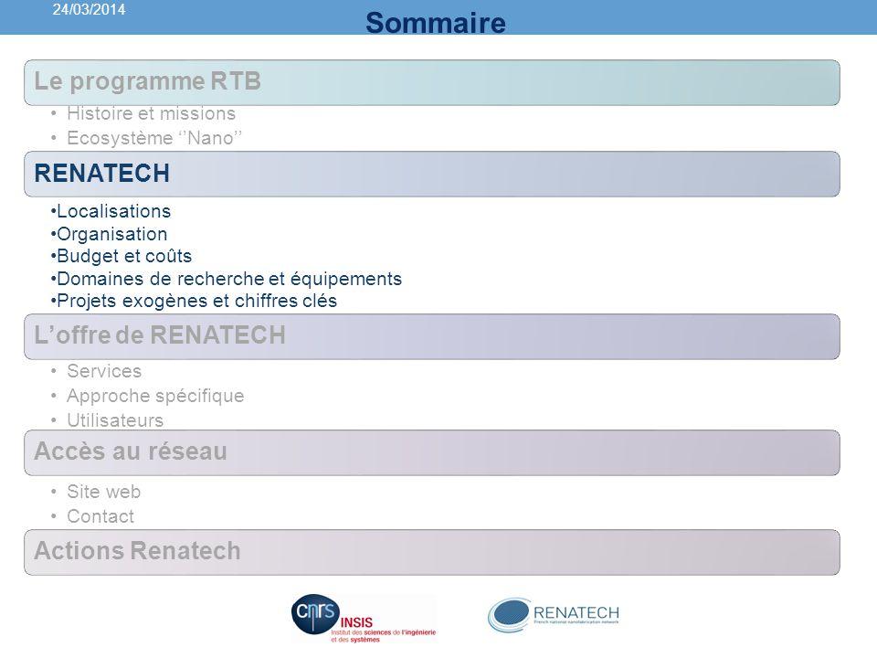 RENATECH: infrastructure pour la micro- nano fabrication et charactérisation 140 ingénieur & techniciens 7000 m² de salles blanches 6 Plateformes 1000 utilisateurs par an