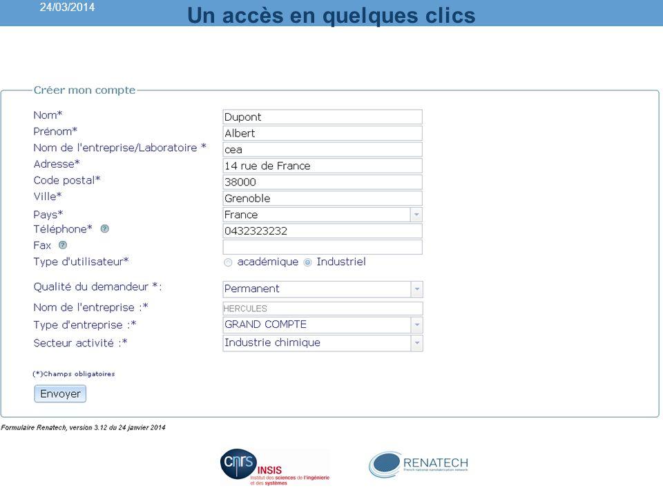 Points de contacts des plateformes General information 24/03/2014