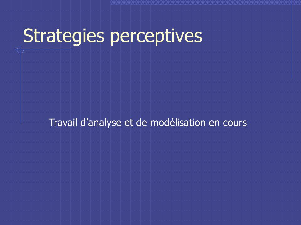 Strategies perceptives Travail danalyse et de modélisation en cours
