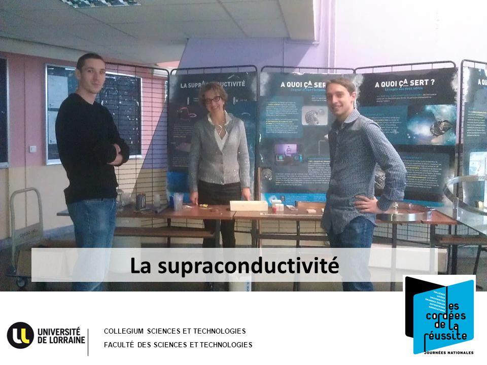 COLLEGIUM SCIENCES ET TECHNOLOGIES FACULTÉ DES SCIENCES ET TECHNOLOGIES La supraconductivité