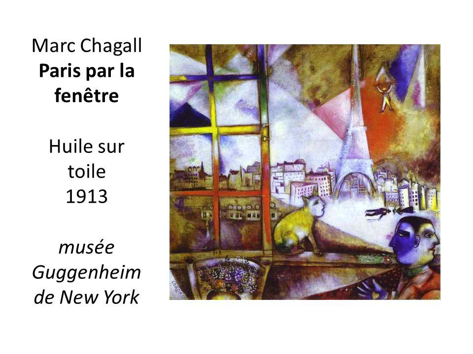 Marc Chagall Paris par la fenêtre Huile sur toile 1913 musée Guggenheim de New York
