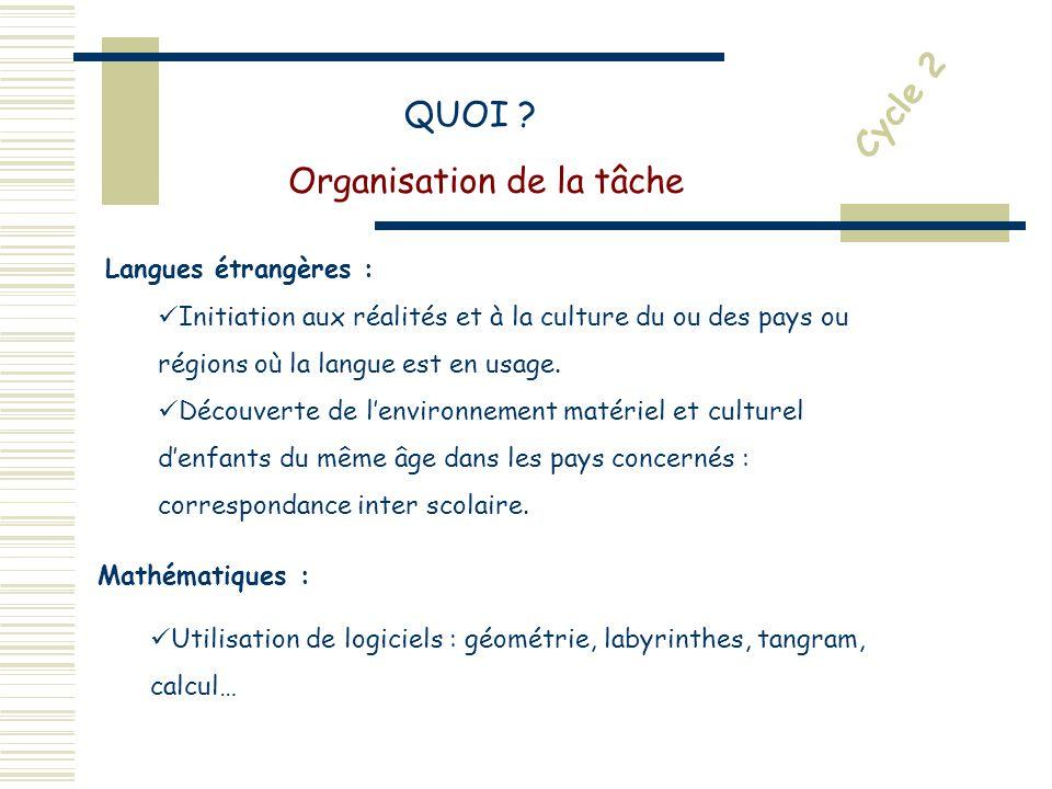 Langues étrangères : Initiation aux réalités et à la culture du ou des pays ou régions où la langue est en usage.