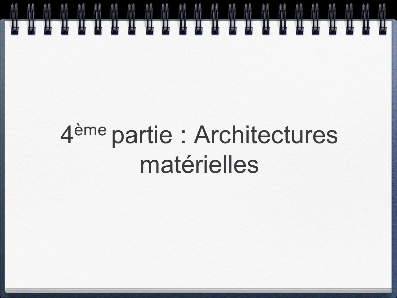 4 ème partie : Architectures matérielles