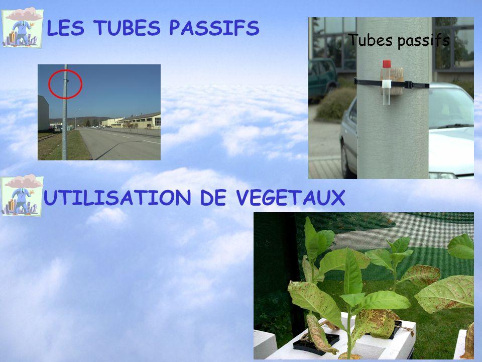 LES TUBES PASSIFS Tubes passifs UTILISATION DE VEGETAUX