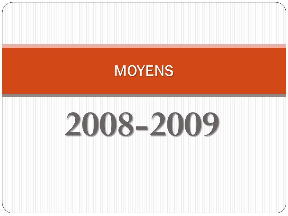 2008-2009 MOYENS