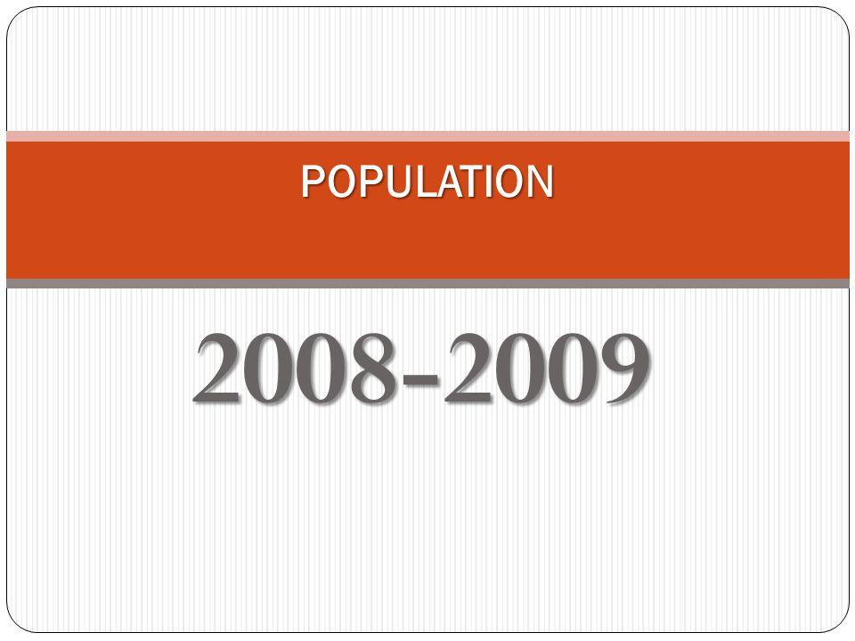 2008-2009 POPULATION