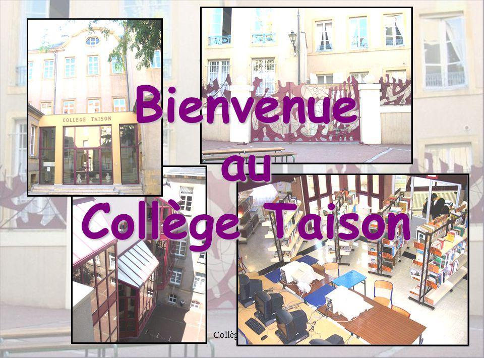 Collège Taison1 Bienvenue au Collège Taison
